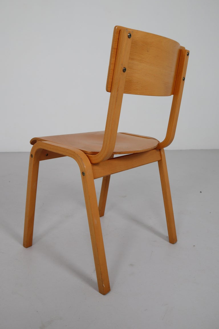 Set of 60 Scandinavian Modern Chairs Made from Bentwood and Plywood 1960s  For Sale 3