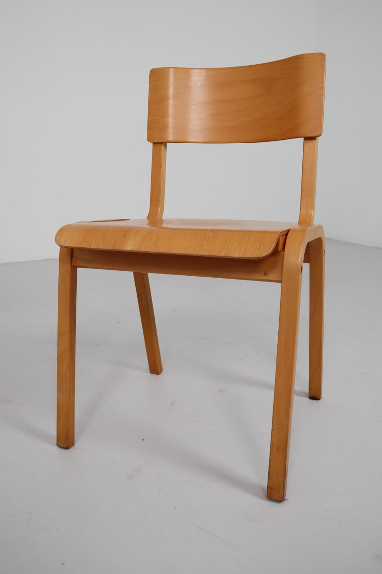 Set of 60 Scandinavian Modern Chairs Made from Bentwood and Plywood 1960s  For Sale 4
