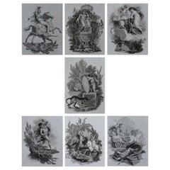 Set of 7 Antique Allegorical Prints, Greek and Roman Mythology, circa 1820