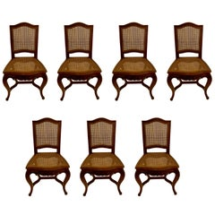 Set of 7 Antique French Louis XVI Walnut Chairs