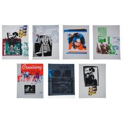 Set of 7 Cal Schenkel 1979 Silkscreen Lithographs Captain Beefheart Frank Zappa