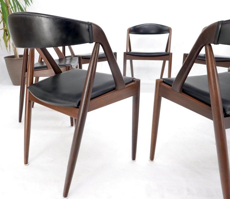 Set of 7 Danish Modern Kai Kristiansen Teak Dining Chairs  For Sale 2