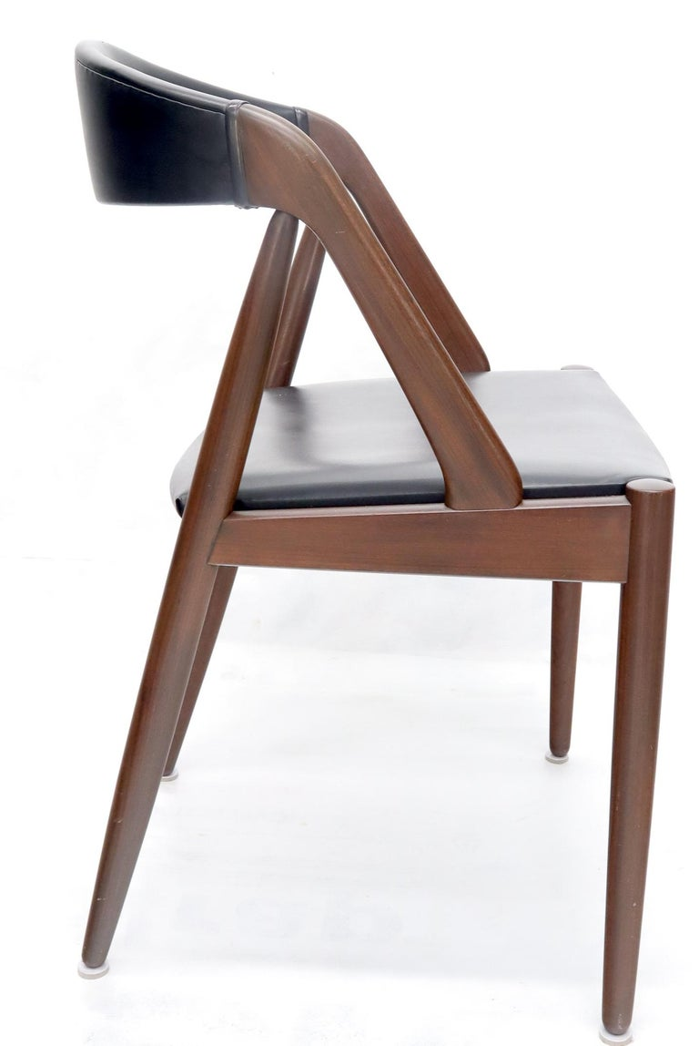 Set of 7 Danish Modern Kai Kristiansen Teak Dining Chairs  For Sale 4