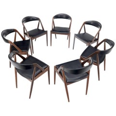 Set of 7 Danish Modern Kai Kristiansen Teak Dining Chairs