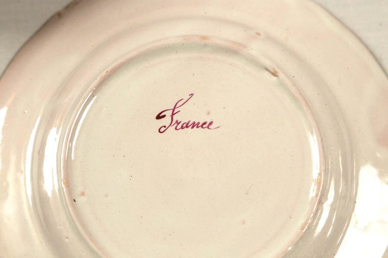 Set of 7 French Faience Plates, Late 19th Century For Sale 4