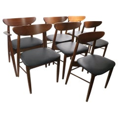Set of 7 Mid Century Dining Chairs by Stanley