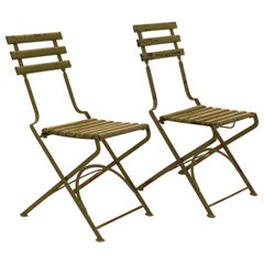 Set of 70 Late 19th Century Garden Chairs Made for the Antwerpen ZOO