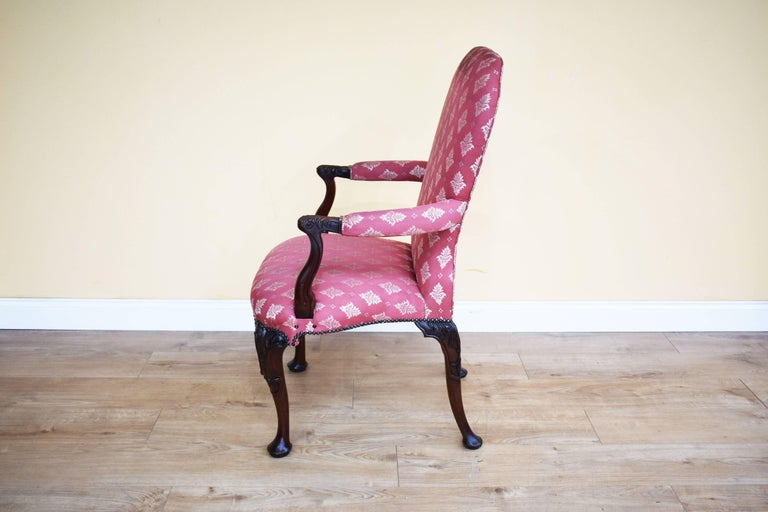 Set of Eight 18th Century Style Open Armchairs For Sale 4
