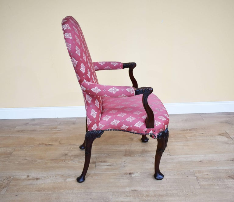 Set of Eight 18th Century Style Open Armchairs For Sale 2