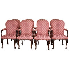 Set of 8 18th Century Style Open Armchairs