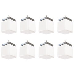 Set of 8 1930s Cube Ceiling Lights