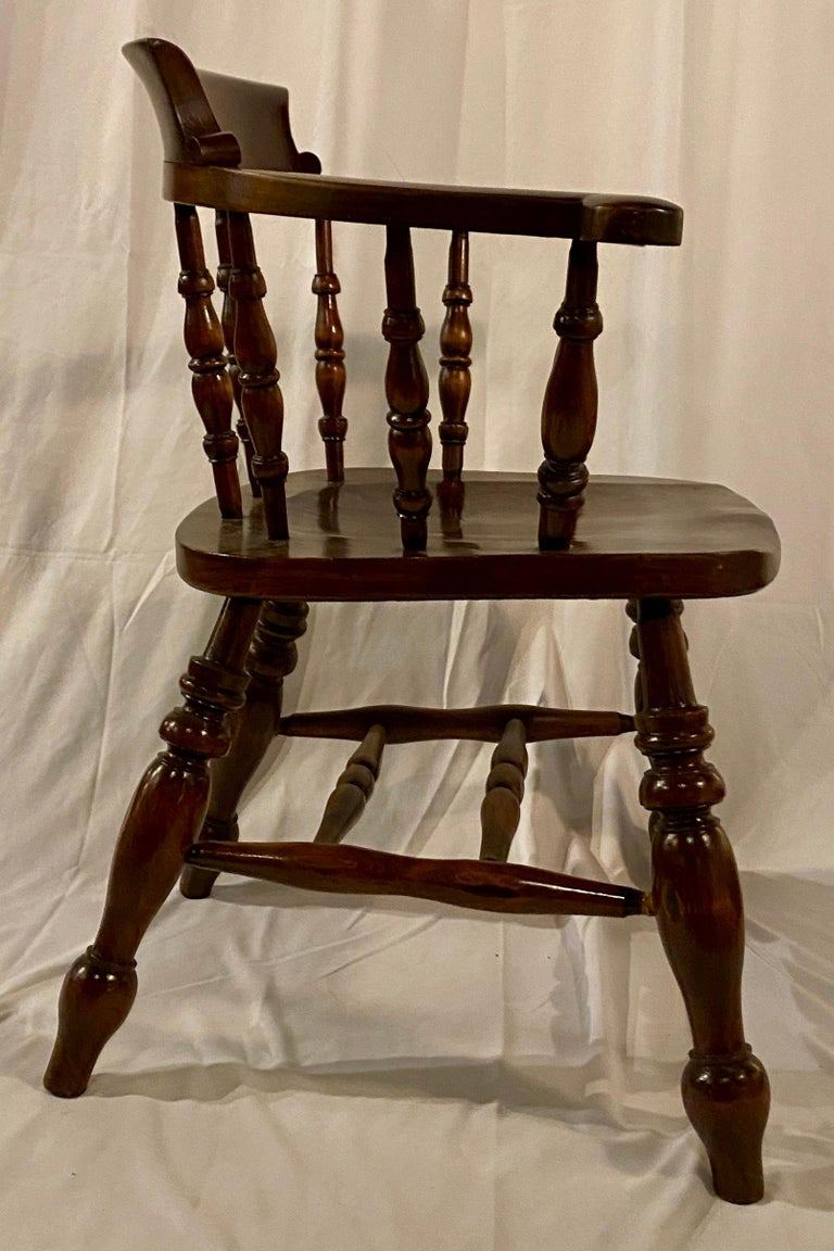 Set of 8, 19th Century, Antique Captain's Chairs In Good Condition For Sale In New Orleans, LA
