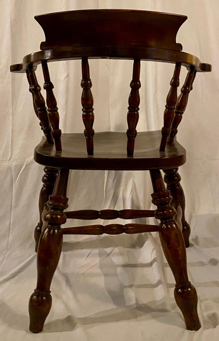 Wood Set of 8, 19th Century, Antique Captain's Chairs For Sale