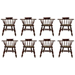 Set of 8, 19th Century, Antique Captain's Chairs