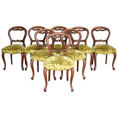 Set of 8 19th Century English Victorian Mahogany Dining Chairs