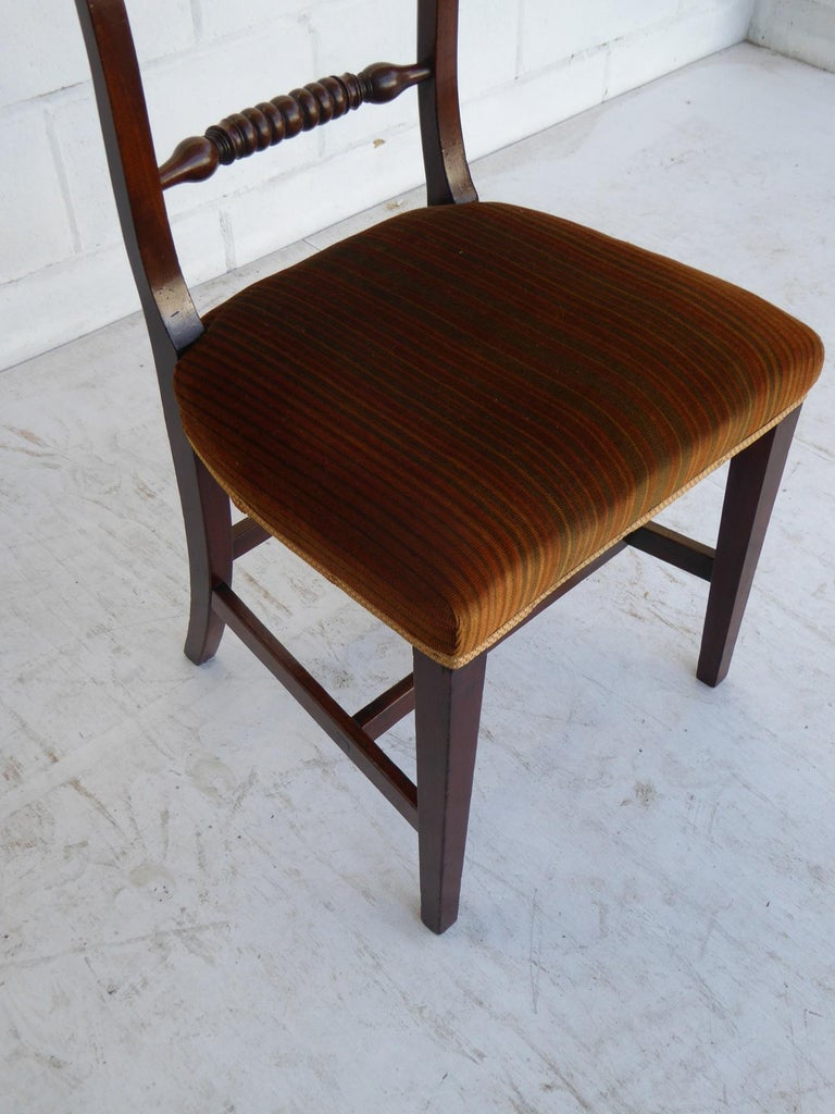 Set of 8 19th Century George III Mahogany Dining Chairs For Sale 2