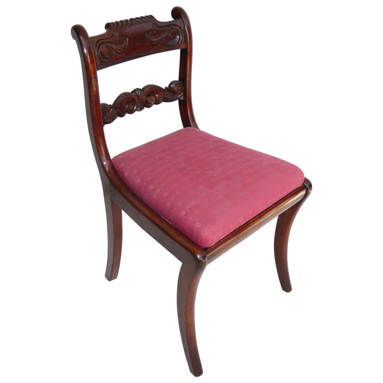 Set of 8 19th Century Regency Mahogany Dining Chairs For Sale