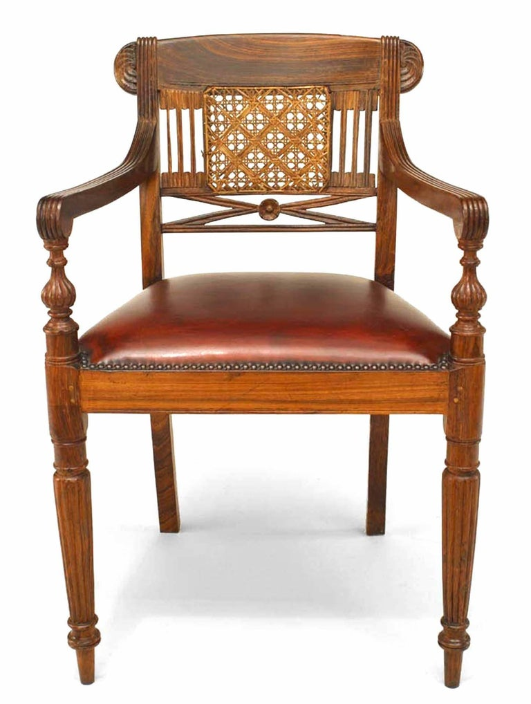 British Set of 8 20th c. English Anglo-Indian Armchairs For Sale