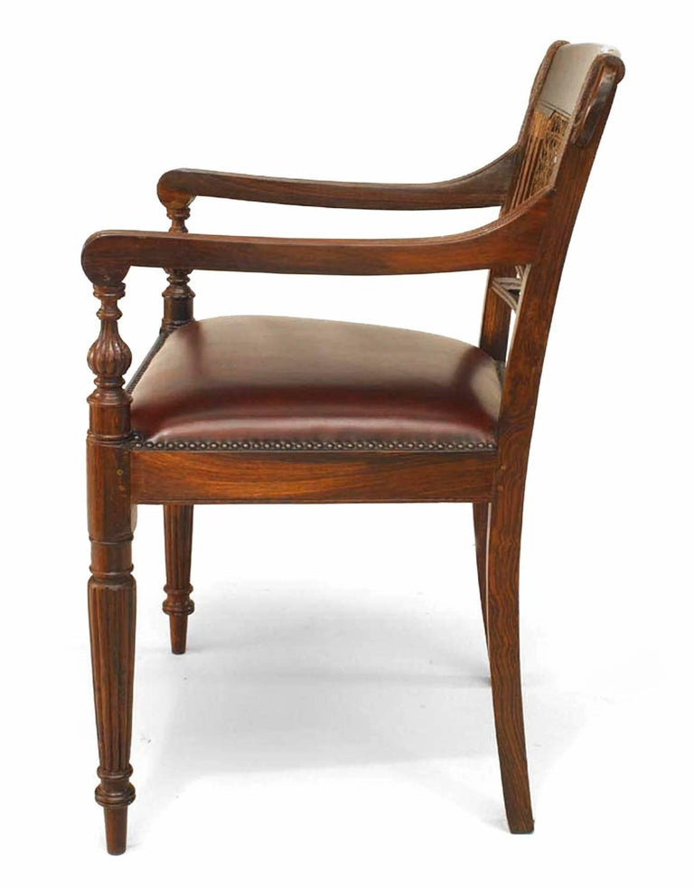 Set of 8 20th c. English Anglo-Indian Armchairs In Good Condition For Sale In New York, NY