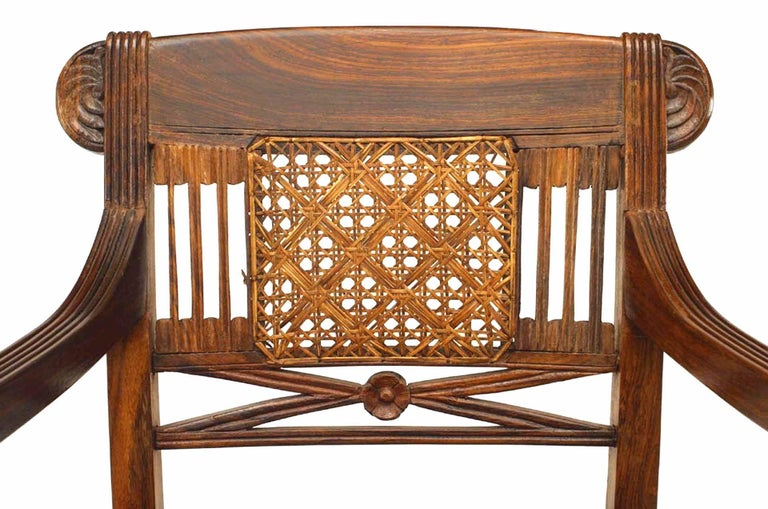 20th Century Set of 8 20th c. English Anglo-Indian Armchairs For Sale