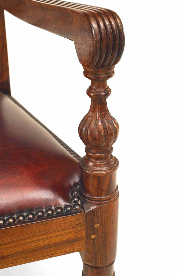 Hardwood Set of 8 20th c. English Anglo-Indian Armchairs For Sale