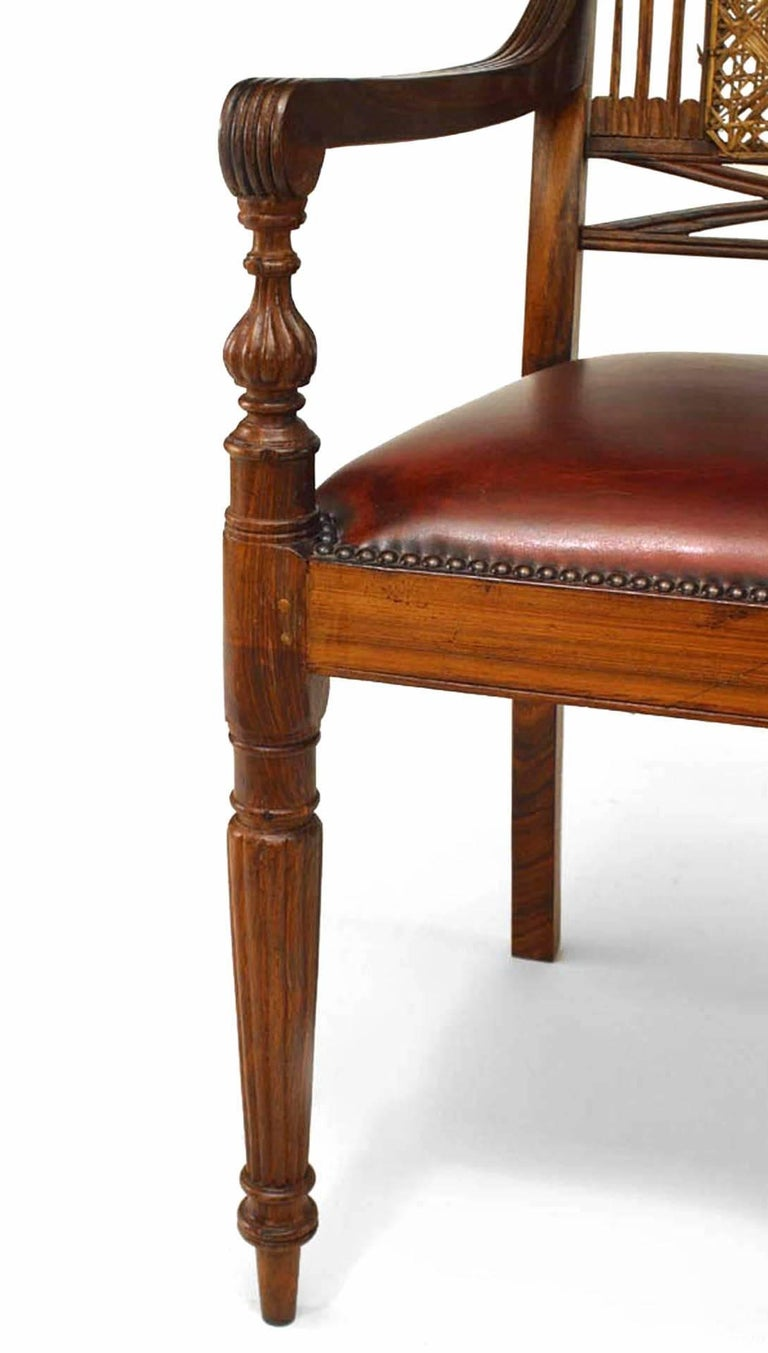 Set of 8 20th c. English Anglo-Indian Armchairs For Sale 1