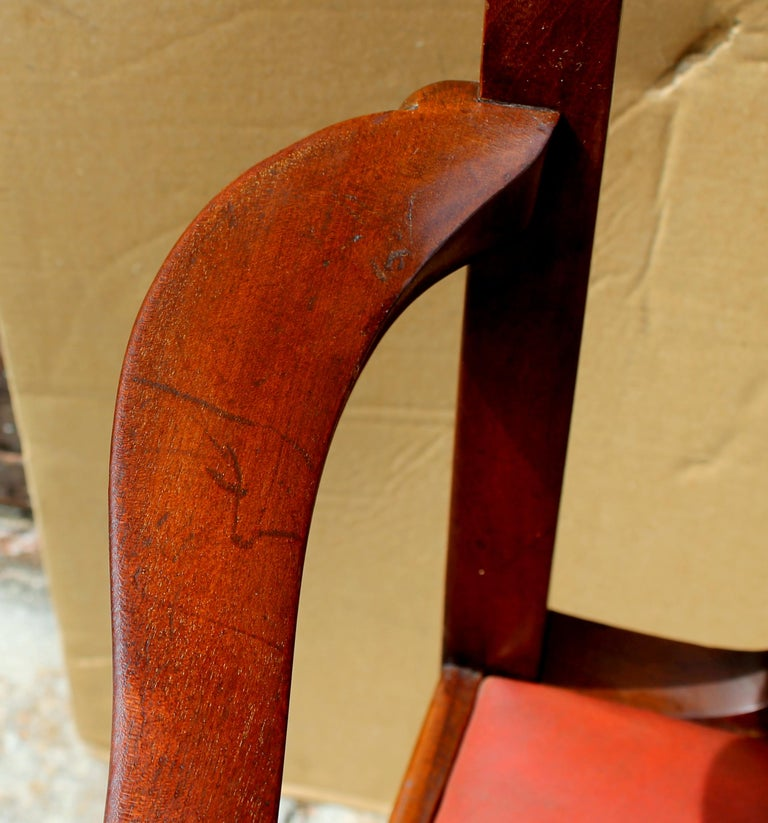 Set of 8 '6+2' Antique English Solid Mahogany Chippendale Style Dining Chairs For Sale 7