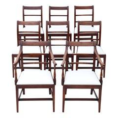 Set of 8 '6+2' Georgian Mahogany Dining Chairs