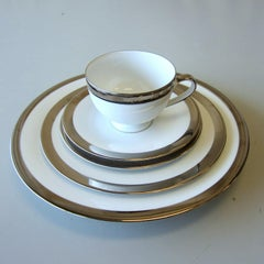 Set of 8 Academy Platinum Place Settings by Ralph Lauren Home