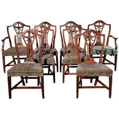 Set of 8 American 18th Century Newport  Federal Dining Chairs by John Carlisle