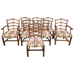Set of 8 American Walnut Dining Chairs