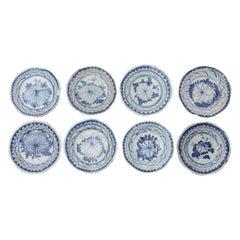 Set of 8 Ancient Chinese Bowls, China, 17th-19th Century