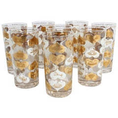 Set of 8 Anniversary Calendar of Marital Milestones 22-Karat Highball Glasses