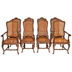 Set of 8 Antique French Provincial Dining Chairs