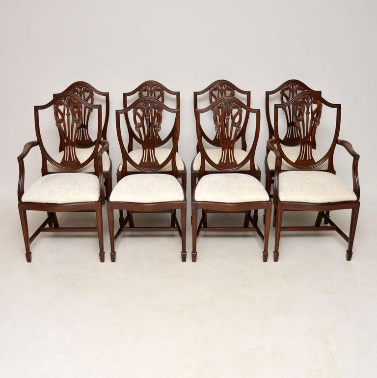 Dining Room Furniture Styles: Set Of 8 Antique Georgian Style Mahogany Dining Chairs At