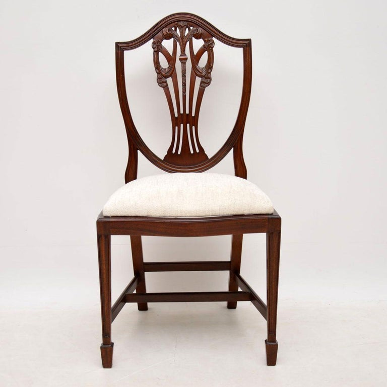 Set of 8 Antique Georgian Style Mahogany Dining Chairs at ...