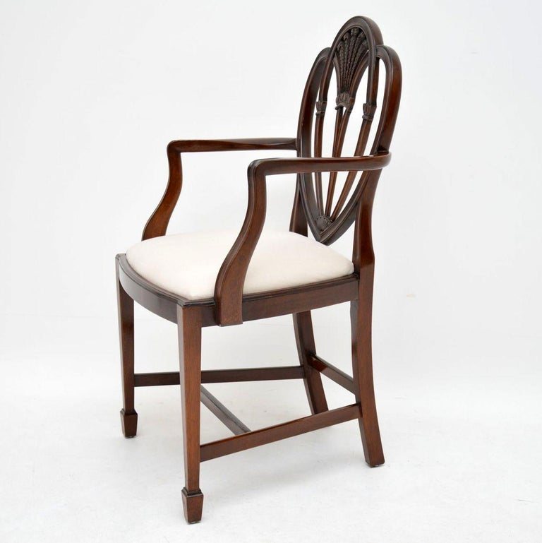 Antique Dining Room Chairs For Sale: Set Of 8 Antique Georgian Style Mahogany Dining Chairs For