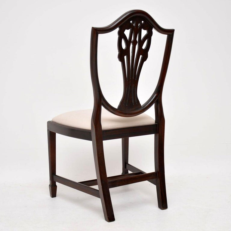 Antique Dining Room Chairs For Sale: Set Of 8 Antique Sheraton Style Mahogany Shield Back