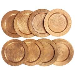 Set of 8 Arts & Crafts Copper Plates