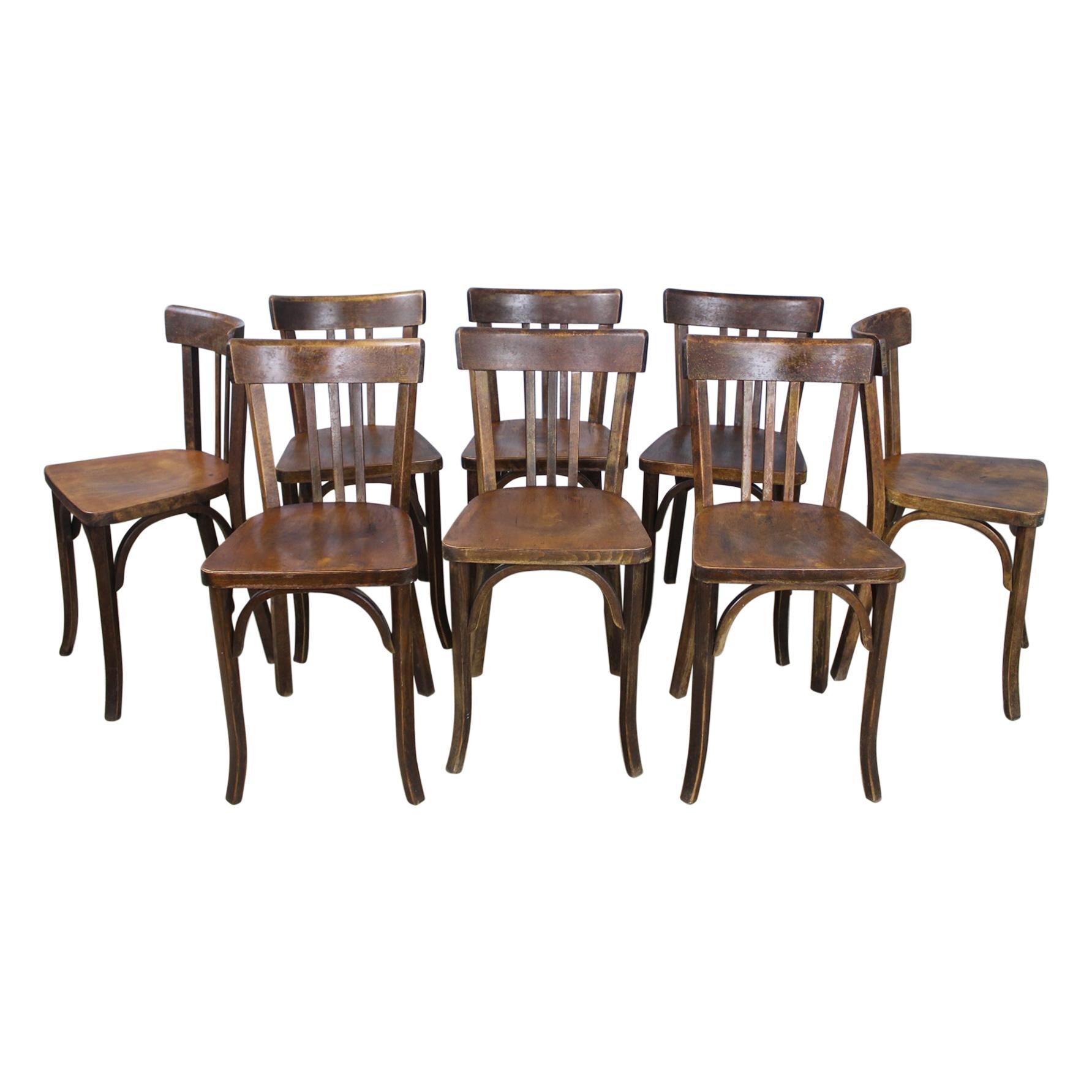 Set of 8 Baumann Bentwood Bistro Chairs