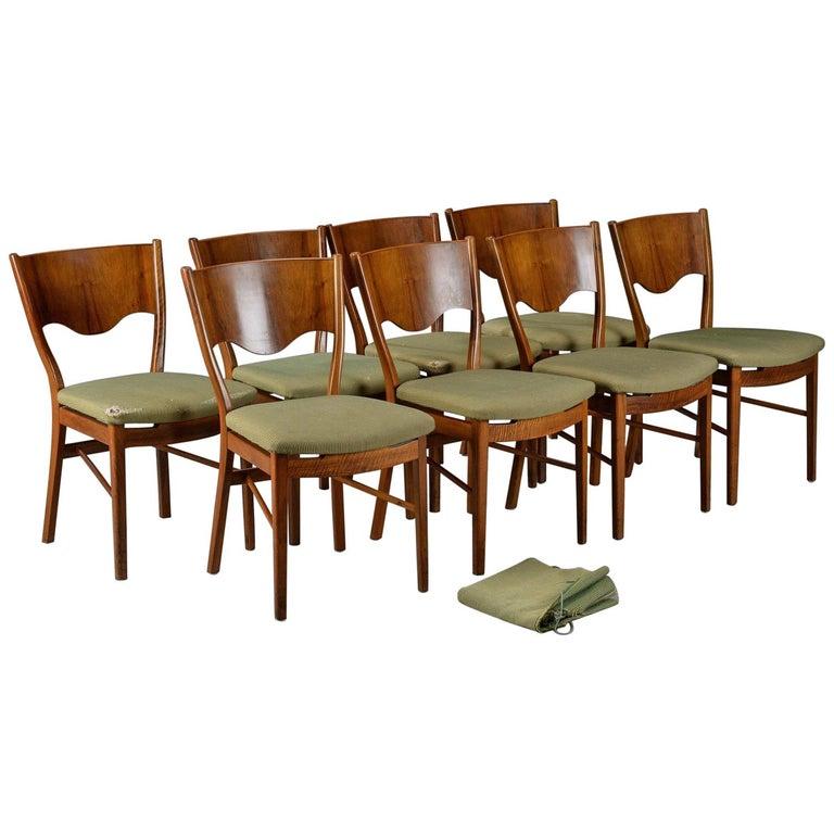 Terrific Set Of 8 Beechwood Dining Chairs Finn Juhl Model Bo63 Bovirke Pabps2019 Chair Design Images Pabps2019Com