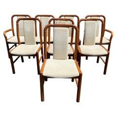 Set of 8 Benny Linden Danish Modern Teak Upholstered Dining Chairs
