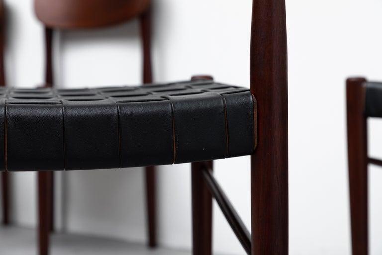 Set of 8 Børge Mogensen Style Danish Teak Dining Chairs For Sale 2