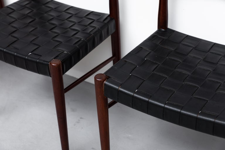 Set of 8 Børge Mogensen Style Danish Teak Dining Chairs For Sale 3