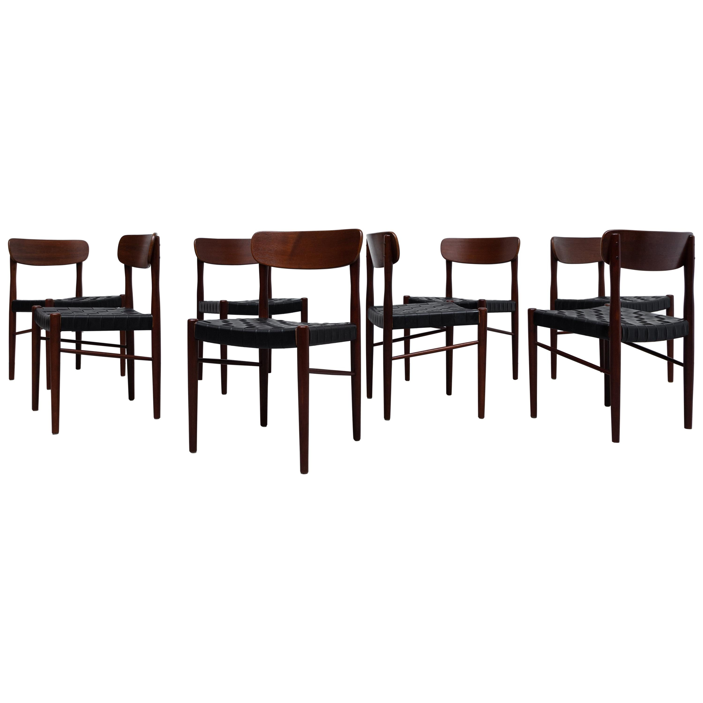 Set of 8 Børge Mogensen Style Danish Teak Dining Chairs