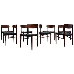 Set of 8 Børge Mogensen Style Danish Teak Dining Chairs