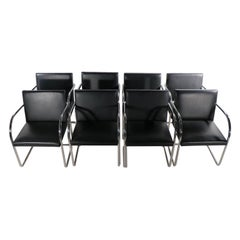 Set of 8 Brno Dining Chairs Van Der Rohe Design by Knoll
