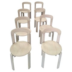 Set of 8 Bruno Rey Chairs for Dietiker Mobilier International, 1970