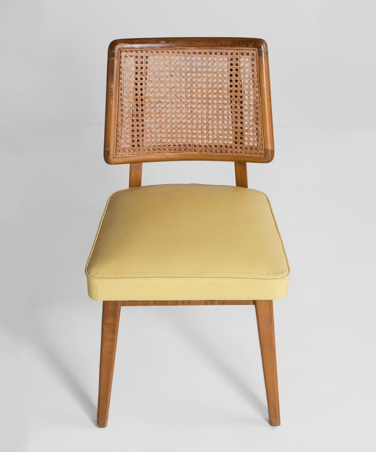 American Set of 8 Cane Back Dining Chairs, America, circa 1960 For Sale