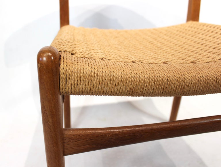 Set of 8 CH23 dining chairs by Hans Wegner and Carl Hansen & Son, 1950s In Good Condition For Sale In Lejre, DK